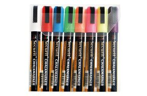 CHALK MARKERS 2-6mm SET 8 COLOURS